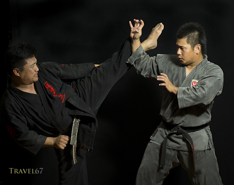 Satoshi Kinjo-sensei & Kenta Shinjo - Ryukyu Kobudo